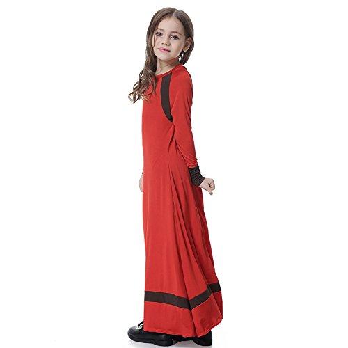 19beaaf5b oobest Vestido islámico musulmán para niñas Skit de mangas largas Niños  largo vestido de longitud completa