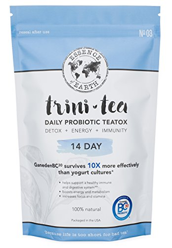 Probiotic Detox Tea for Weight Loss: Cleansing Green Tea Herbal Blend – Remove Toxins, Flatten Tummy, Improve Metabolism & Digestive Health, Burn Fat, Get Fit – Organic Teatox Cleanse: 14 Day Supply Review