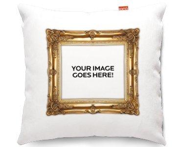Cojín de sofá personaliseitonline foto enmarcada de oro ...