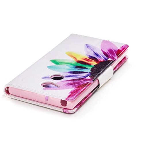 Xperia XA2Ultra Móvil, Sony Xperia XA2Ultra Móvil, cowx funda de piel sintética para Sony Xperia XA2Ultra Funda colorida flores