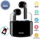 Wireless Earbuds,Bluetooth Earbuds Wireless Earphones Stereo Wireless Earbuds with Microphone with Charging Case Mini in Ear Earphones Sports Earpieces Compatible Samsung Android Phones(Black)