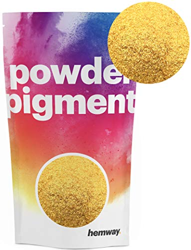Hemway Pigment Powder Colour Luxury Ultra-Sparkle Dye Metallic Pigments for Epoxy Resin, Polyurethane Paint (24K Gold, 50g / 1.75oz)