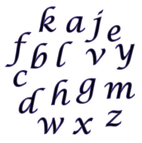 Script Alphabet Letters - CK Products 43-C277 FMM Lower Case Script Alphabet Tappit Cutter Set - 1/2
