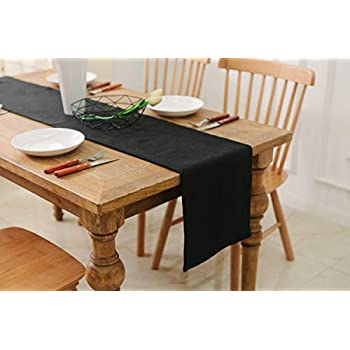 Astounding Natus Weaver Dinning Table Runner 12 X 36 Inches Farmhouse Kitchen Coffee Burlap Table Runner For Holiday Party Black Download Free Architecture Designs Intelgarnamadebymaigaardcom