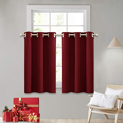 RYB HOME Décor Kitchen Cabinet Closet Curtain Shades, Half