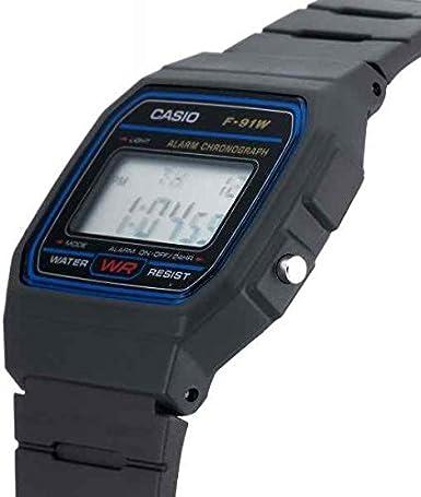 c2b8f17e9006 Casio Reloj de pulsera Unisex F-91W-1YER  Amazon.es  Relojes