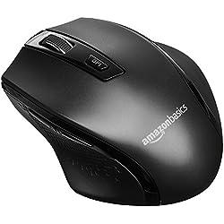 AmazonBasics Ergonomic Wireless Mouse - DPI Adjustable - Black