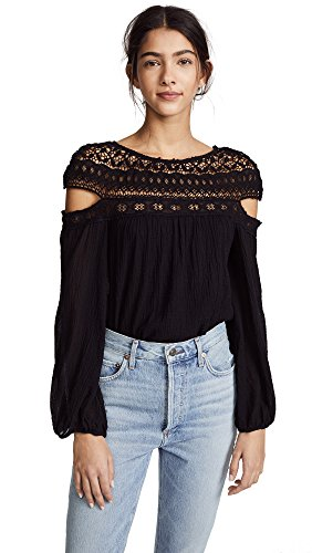 Bailey 44 Women's Crochet Cutout Top, Black, Small by Bailey 44