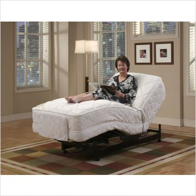 Bundle-60 Deluxe Adjustable Bed with Optional Mattress - Twin XL (4 Pieces) Accessories: With Massage/Hand Controls