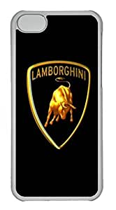 iPhone 5 5s Case, iPhone 5 5s Cases - diy caseCrystal Clear Back Bumper for iPhone 5 5s Lamborghini Car Logo 1 Shock-Absorption Hard Case for iPhone 5 5s