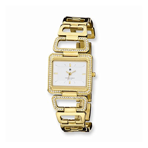 Charles-Hubert, Paris Women's 6833-G Premium Collection Gold-Plated White Dial Watch