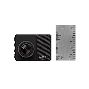 Garmin Dash Cam 65W 1080p Extra Wide 180-Degree Field of View GPS-enabled small dash camera includes memory card, G-Sensor, Loop Recording, 010-01750-05