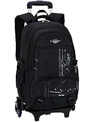 YUB Children School Bags Backpack Students Wheels Bags Rolling Backpacks for Kids