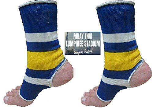 MUAY Thai Boxing, Martial ARTS Ankle Supports- 'LUMPINEE' for For Men/Women Muay Thai-Boxing, Kickboxing, & General Ankle Support(Pair)