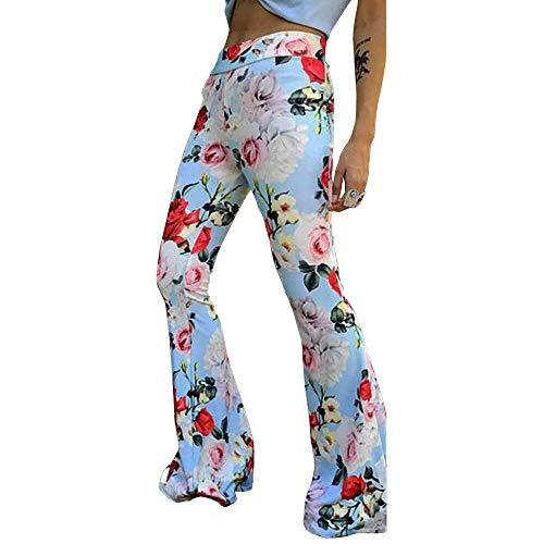 (Apparel Bell Style Leg Palazzo Pants Printed Bohemiam Pants for Curvy Women XL)