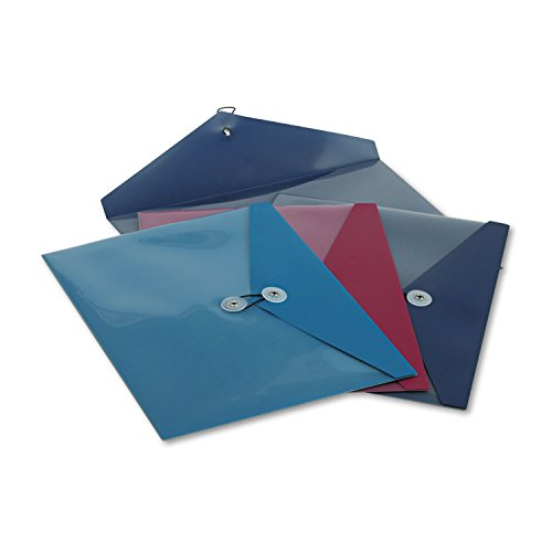 Pendaflex 90016 Poly Booklet Envelope, Side Opening, 12 1/2 x 9 1/4, 3 Colors, ()