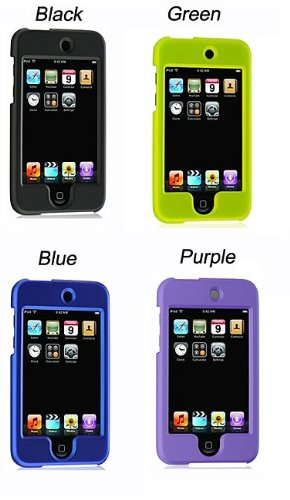 Apple iPod Touch 2nd & 3rd Generation Rubberized Snap-on Protector Cover Hard Case Purple
