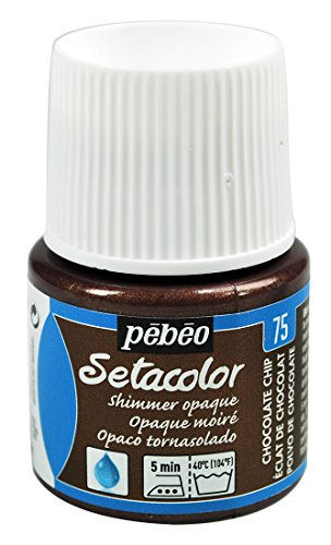 Spectacular Chocolate Chip - Pebeo Setacolor Opaque Fabric Paint 45-Milliliter Bottle, Shimmer Chocolate Chip