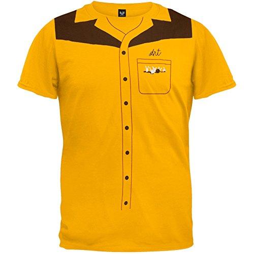 [The Big Lebowski - Mens Team Dude Costume T-shirt 2x-large Yellow] (The Big Lebowski Costumes)