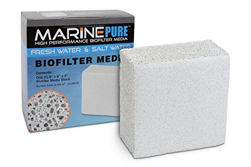 CerMedia MarinePure Block Bio-Filter Media for Marine and Freshwater Aquariums, 8 by 8 by 4-Inch
