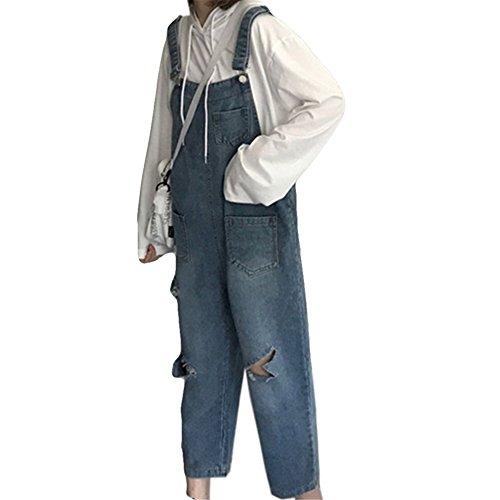富豪発明混合したCAIXINGYI 女性 春夏秋 新 サロペットパンツ ルース 韓風 学生 オーバーオール 9分丈ズボン
