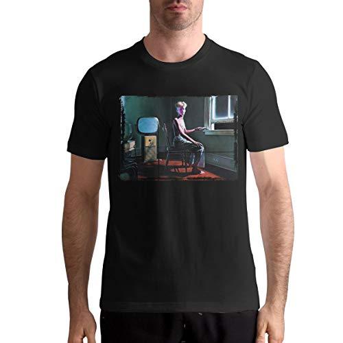 Rush Power Windows Fashion Men's Casual T-Shirt Short Sleeve Round Neck Cotton Tee Summer Top XL Black
