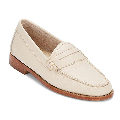 Gh Bass & Co. Womens Whitney Penny Loafer Nuda Morbida Pelle Martellata