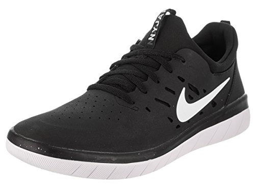 5 Men's 8 Nyjah Free SB US Black Skate Men Nike White Shoe zawHxH