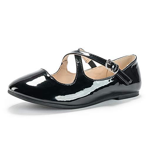 Weestep Toddler Girls Ballet Mary Jane School Shoes Kids Uniform Dress Flat Glitter Shoes -10 Styles