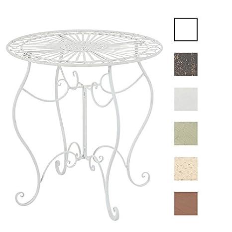 Tavolo Giardino Ferro Bianco.Clp Tavolino Da Giardino Indra Tavolino Da Caffe In Ferro Lavorato
