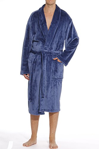 - #followme 46901-NVY-L Velour Robe/Robes for Men Navy