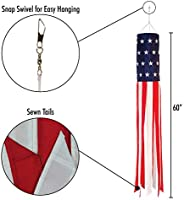 "In The Breeze Stars /& Stripes 18/"" Windsock"