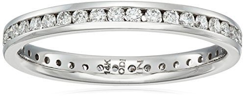 14k White Gold Diamond Channel Eternity Ring (1/2cttw, H-I Color, I1-I2 Clarity), Size 7 (Best Color Clarity For A Diamond)