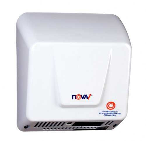 0830 Nova 1 Automatic Hand Dryer - infared sensor activated, 100 VAC to 240 VAC - 50 or 60 Hz by World Dryer