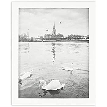 golden state art white photo wood collage frame with real glass 8x10
