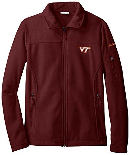 NCAA Virginia Tech Hokies Give and Go Full Zip Fleece Jacket, Maroon, Medium