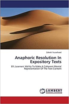 Book Anaphoric Resolution In Expository Texts