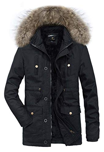 Men's Winter Cotton Stand Moxishop Jacket Coat Collar Large Parker Outdoor Black Hooded Jacket Fur Size Long Windbreaker Jacket Collar dPPEqaw