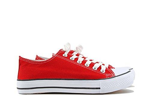 Mujer MODELISA Rojo Zapatillas Baja Baja Rojo MODELISA Zapatillas Zapatillas MODELISA Mujer xI6CBf