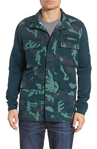 Mens Field Jacket Nike (Nike Mens Camo Lightweight Field Jacket Green Size XXL 928621-372)
