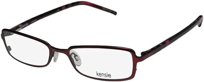 KENSIE Eyeglasses METALLIC Burgundy