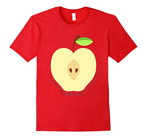 Mens Apple Costume T-Shirt - Easy Cheap Halloween Costume Fruit XL Red