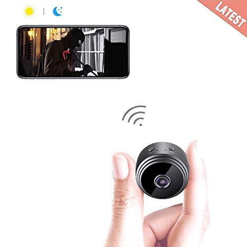 Goushy 1080P HD Cámara Espía Oculta Mini WiFi Cámara Espía de Seguridad Inalámbrica portátil y Recargable Interior/Hogar con visión Nocturna por infrar Rojos/Detección de Movimiento product image