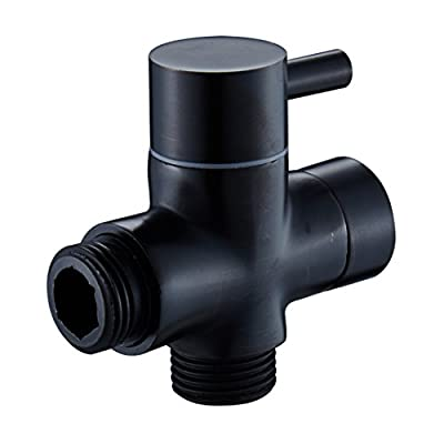 MANCEL Brass Shower Arm Diverter Valve Bathroom Universal Shower System Component Replacement Part for Hand Held Showerhead and Fixed Spray Head