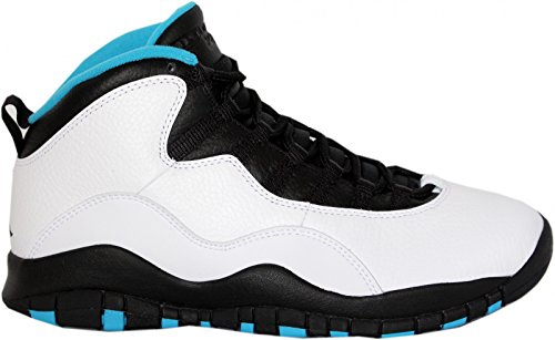 Jordan Mens Retro 10 White/Dark Powder Blue-Black 310805-106 13