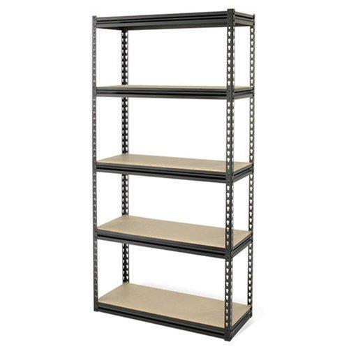 Gorilla Rack GRZ6-3618-5BIMP 5-Shelf 36-by-18-by-72-Inch Shelving Unit, Black