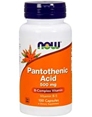 Pantothenic Acid, 500 mg, 100 Caps by Now Foods (Pack of 6)