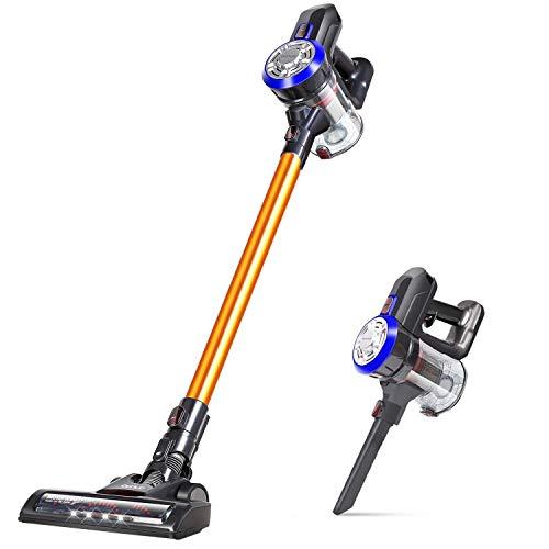 OUNUO Cordless Vacuum Cleaner, 2 in 1 Lightweight Vacuum, 90