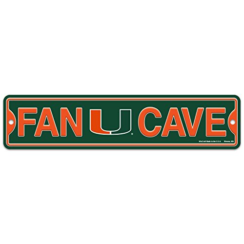 WinCraft University of Miami Hurricanes UM Plastic Fan Cave Sign 4