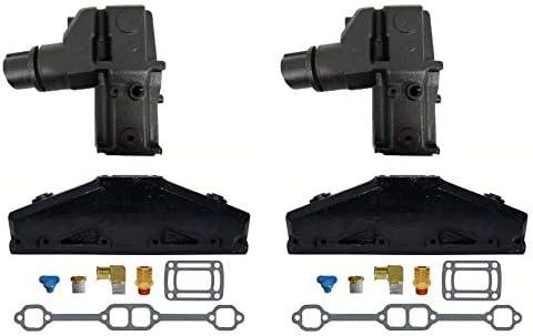 3847501 3862627 5.0L//5.7L Volvo Penta//OMC Exhaust Manifold /& Elbow//Riser Kit